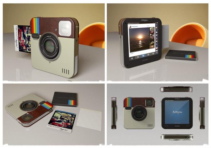 Socialmatic Polaroid Instagram: cor inspirada no ícone de uma das mais famosas e usadas redes sociais de hoje.